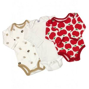 Like New Lot of 3 Long Sleeve Onesies 0-9mo